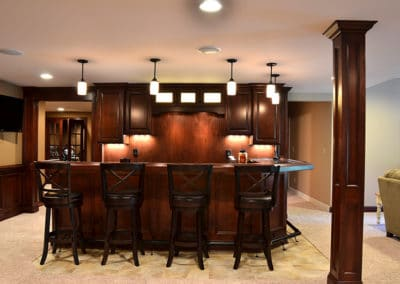Man Cave Basement Bar | Lower Level Finish