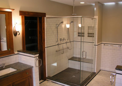 Arts & Crafts | White Subway Tile & Custom Cabinetry | Babler, MO